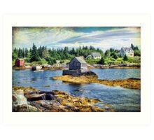 Blue Rocks, Nova Scotia Art Print