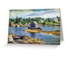 Blue Rocks, Nova Scotia Greeting Card