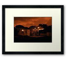 Red Dawn Market Framed Print