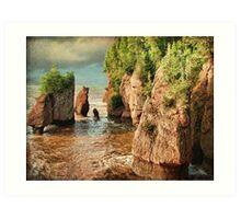 Hopewell Rocks, NB (High Tide) Art Print