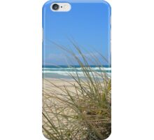 Ocean outlook through the sandy reeds iPhone Case/Skin