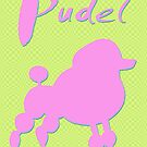 pink poodle - dog by fuxart