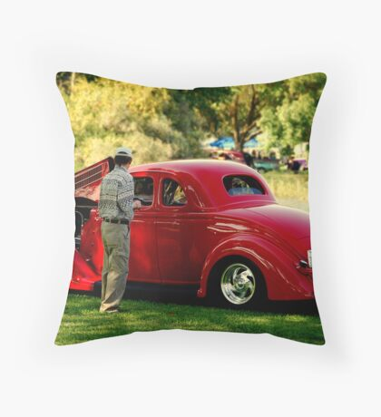 Red Rider....... Throw Pillow