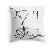 Elk Shaman II Throw Pillow