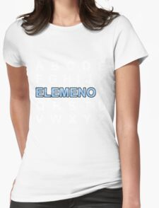ABC ELEMENO Alphabet Womens Fitted T-Shirt