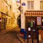 Cafe on the Rue des Ursins by Mick Burkey