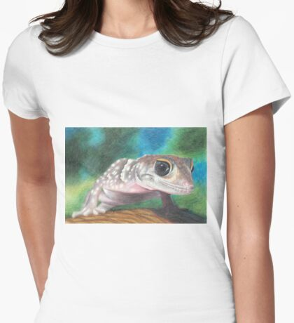 Barking Gecko Womens Fitted T-Shirt