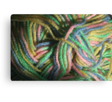 Multicolored Yarn Canvas Print
