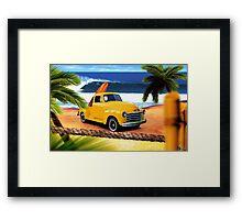 Chevy sapo amarilla Framed Print