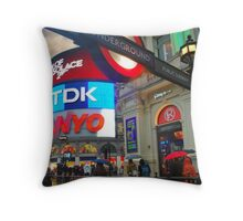 Picadilly Station Throw Pillow