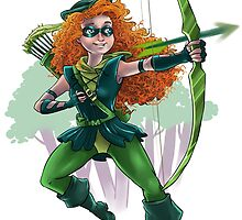 Merida as Green Arrow by LadyMeggieMan