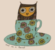 Owl in a teacup by sparklehen