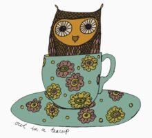 Owl in a teacup Baby Tee