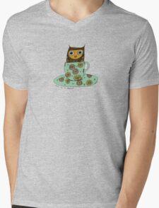 Owl in a teacup Mens V-Neck T-Shirt