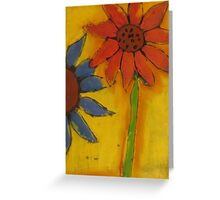 Flowers in Pastel Greeting Card