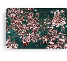 Sky Maze Ink - Green - 1 Canvas Print