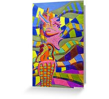 247 - BARCELONA DESIGN #2 - DAVE EDWARDS - ACRYLIC & COLOURED PENCILS - 2009 Greeting Card