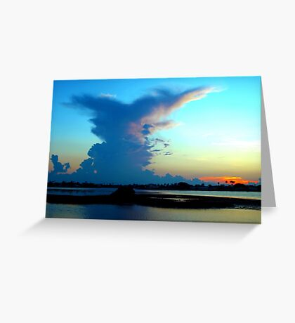 Blue dominance Greeting Card