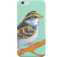 White-throated sparrow on blank background iPhone Case/Skin