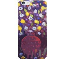 pottery with flowers iPhone Case/Skin