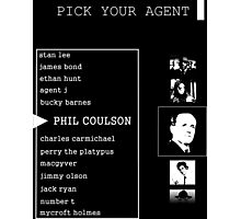 His First Name is Agent Photographic Print