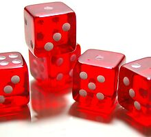 Dice in red by photoaffinity
