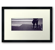 now wave to the garden gate Framed Print