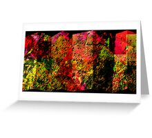 COLORED SCREEN PANELS Greeting Card