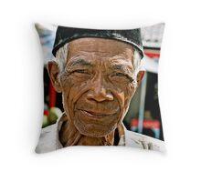 A wise begger Throw Pillow