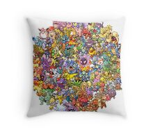 Pokemons Throw Pillow