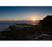 Pearse's beach at dusk Photographic Print