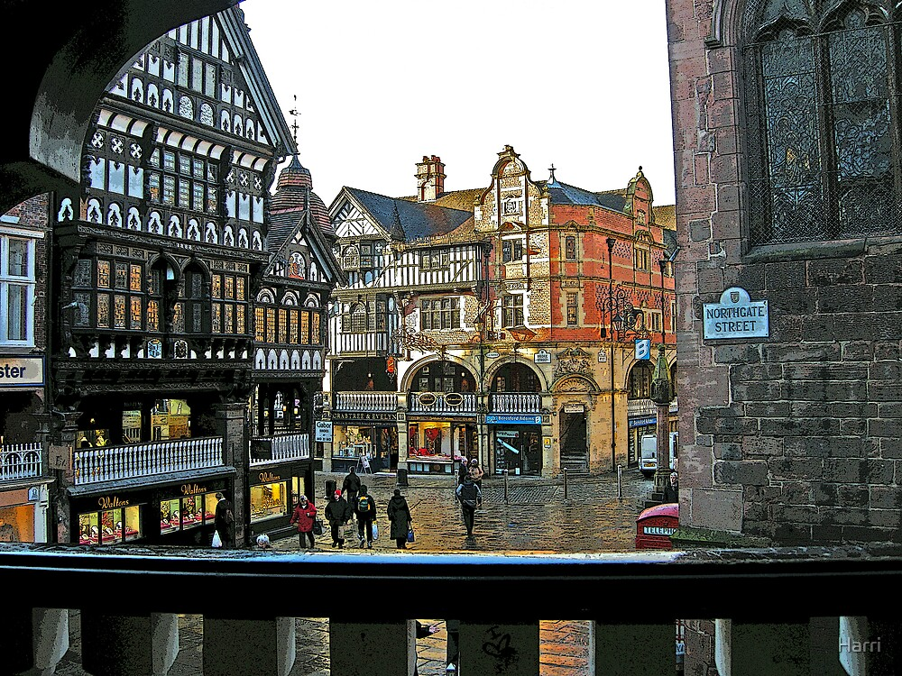 Chester Cross from Northgate Street by Harri
