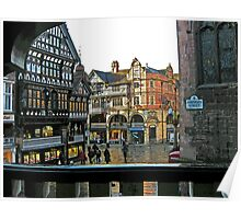 Chester Cross from Northgate Street Poster