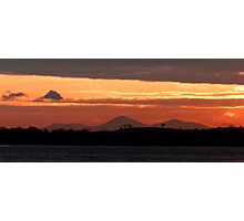 Egyptian like sunset over Strangford Lough - NI Photographic Print