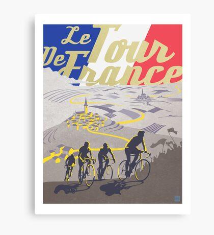 Le Tour de France retro poster Canvas Print