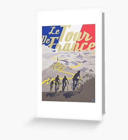 Le Tour de France retro poster Greeting Card