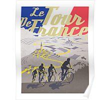 Le Tour de France retro poster Poster