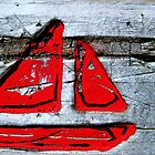 Red Sail Boat by oddoutlet