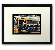 Seinfeld Peterman Reality Bus Tour Shirt Framed Print