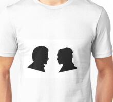 Jaime and Cersei Lannister Silhouette Profiles Unisex T-Shirt