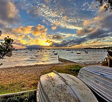 Cameron's Bight boats at sunrise by Keith Stead