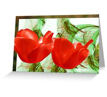 Red for Valentine's  Greeting Card