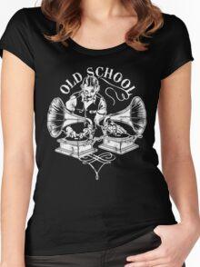 Old School DJ Women's Fitted Scoop T-Shirt