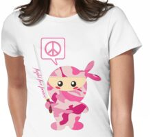 Fight For Peace (pink) Womens Fitted T-Shirt