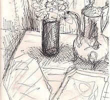 FLOWERS IN A TALL GLASS(C2013) by Paul Romanowski