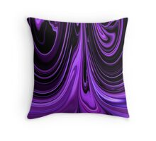 Purple Ribbon Flow Art Throw Pillow