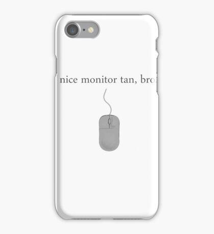 Nice Monitor Tan iPhone Case/Skin