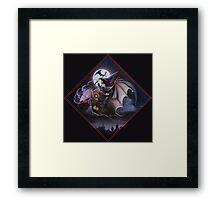 Possessed by the Devil's Skew Framed Print