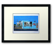 Side of the Milk Bar Framed Print