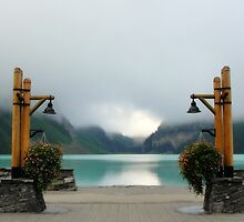 Boardwalk along Lake Louise by frangelico